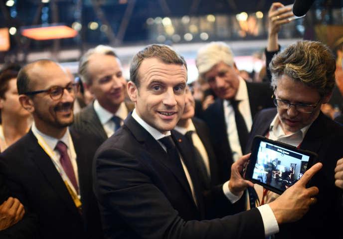Le président français Emmanuel Macron au salon VivaTech, à Paris, le 15 juin.