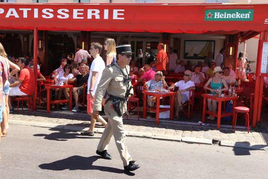 Café Sénéquier à Saint-Tropez, le 8 août 2012.
