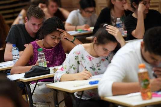 Au lycée de Coulanges à Strasbourg jeudi 15 juin 2017 pour l'épreuve de philosophie