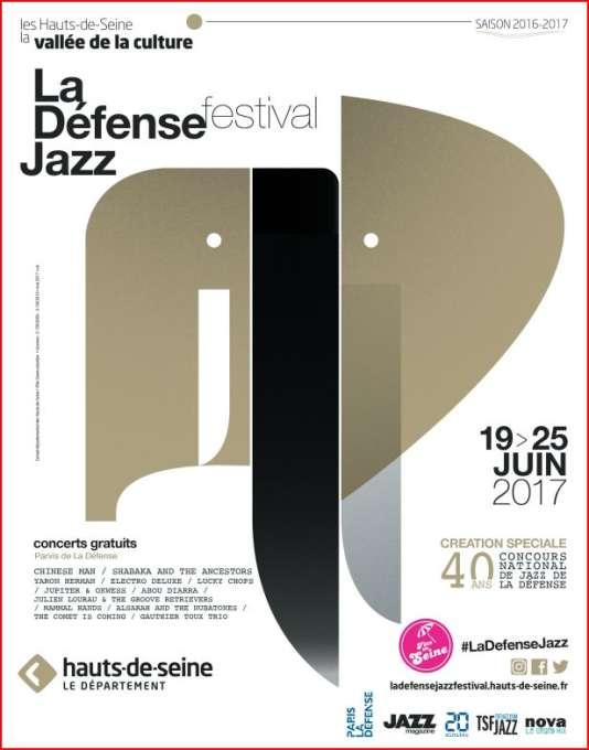 Affiche de La Défense Jazz Festival, du 19 au 25 juin.