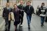 Albert, Monique, Jacky, Michel et Ginette Villemin, lors du procès de Jean-Marie Villemin accusé du meurtre de Bernard Laroche, à Dijon, en 1993.