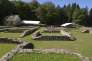 La grande maison romaine, dite PC1, est la plus vaste du site de Bibracte (3 600 m²) et date du Ier siècle av. J.-C.