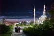 """Dans le centre de Grozny, la mosquée Akhmad-Kadyrov, surnommée """"le coeur de la Tchétchénie"""" qui est, selon le gouvernement local, la plus grande d'Europe."""