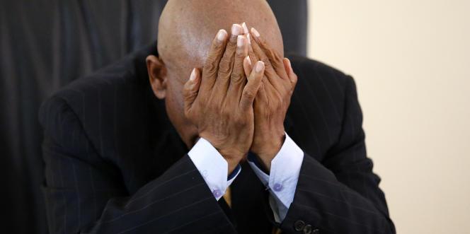 L'ex-premier ministre du Lesotho, Thomas Thabane, à Maseru, le 27février 2015. En juin 2017, il a été de nouveau élu à la tête du gouvernement.