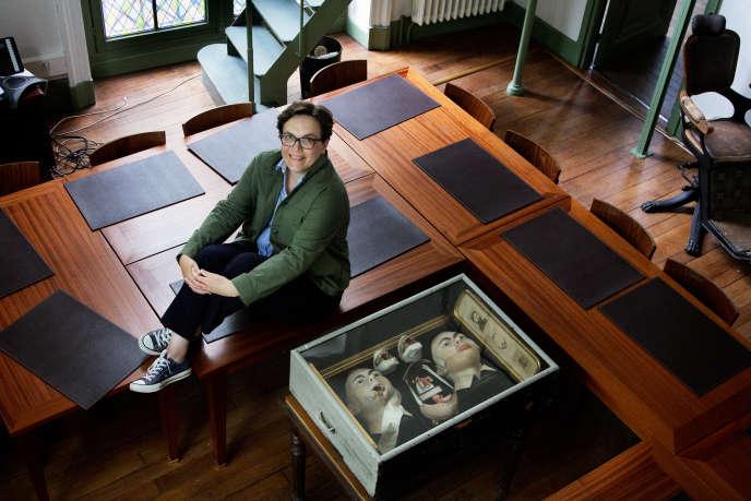 Sophie Delaporte, à la bibliothèque de l'Ecole de médecine de Paris, le 14 juin.