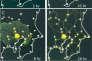 Parti du centre, le blob se déploie pour couvrir l'ensemble des sources de nourriture, placées sur les principales localités de la région de Tokyo. Il concentre ensuite ses pseudopodes afin de réaliser le réseau le plus performant.