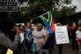 Manifestation contre le président Jacob Zuma, le 7avril à Johannesburg.
