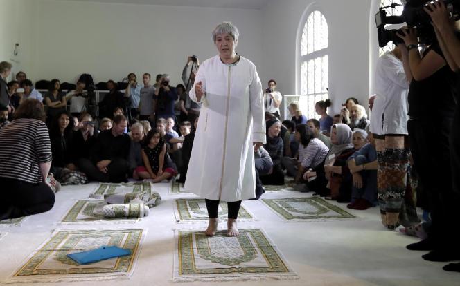 Seyran Ates, vendredi 16 juin, lors de l'inauguration de la mosquée Ibn Rushd-Goethe.