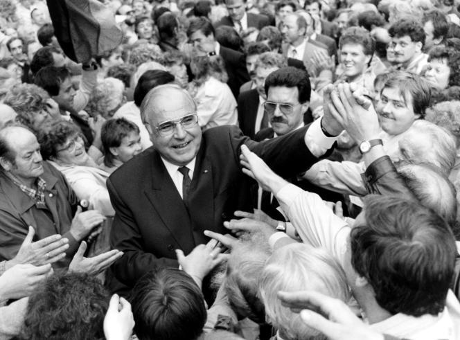 L'ancien chancelier allemand Helmut Kohl, en septembre 1990.