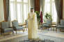 L'émir du Qatar Tamim Ben Hamad Al-Thani, dans son palais à Doha, le 3 août 2015.