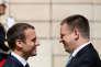 Jüri Ratas et Emmanuel Macron à l'Elysée, le 16 juin.