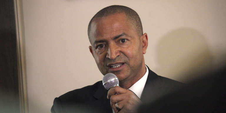 Moïse Katumbi, dans les bureaux de son avocat, Eric Dupont-Moretti, le 16 juin 2017 à Paris.