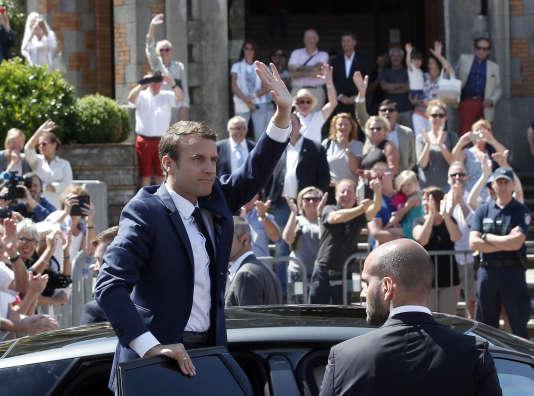 Le président Emmanuel Macron au Touquet (Pas-de-Calais), le 11 juin.