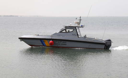 Un bateau de garde-côtes saoudiens dans les eaux de la mer rouge, en 2015.