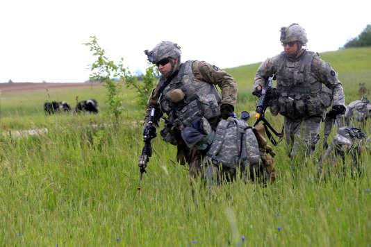 Des soldats américains lors d'un exercice le 17juin en Lituanie.