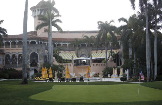 Le club privé de Donald Trump à Mar-a-Lago, à Palm Beach (Floride), le 15 avril.