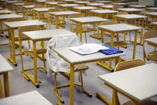 Une salle d'examen à Paris, en 2014.