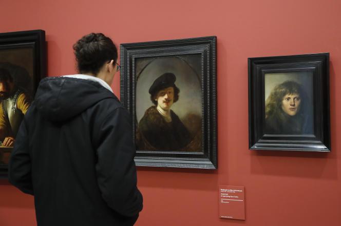 L'exposition« Chefs-d'œuvre de la collection Leiden» au Musée du Louvre, le 17 février 2017, à Paris.