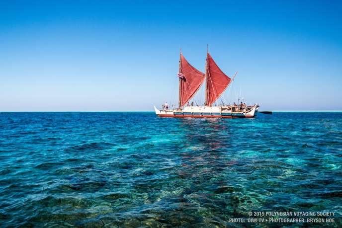 La pirogue «Hokul'a» est rentrée samedi 17 juin à son port d'attache, après un périple de trois ans. CREDIT : HOKULE'A PROJECT