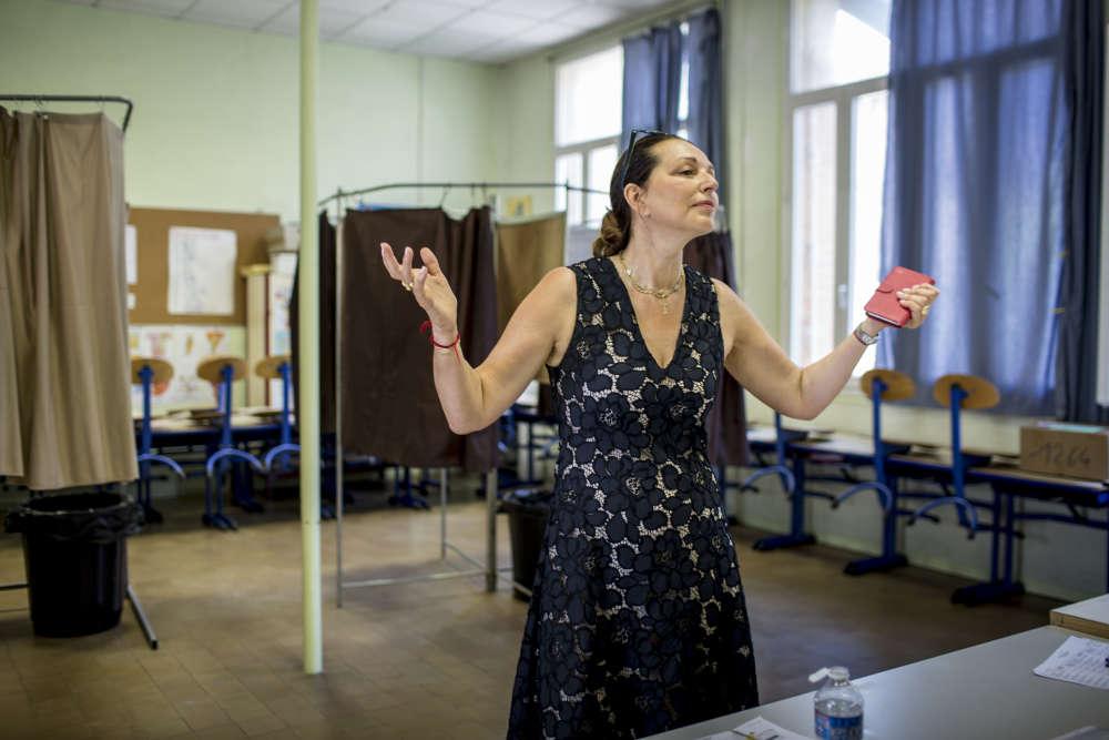 A Marseille, Valérie Boyer, candidate Les Républicains dans la première circonscription des Bouches-du-Rhône.