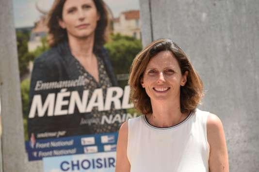 Emmanuelle Ménard (ici le 2 juin 2017) a remporté la sixième circonscription de l'Hérault.