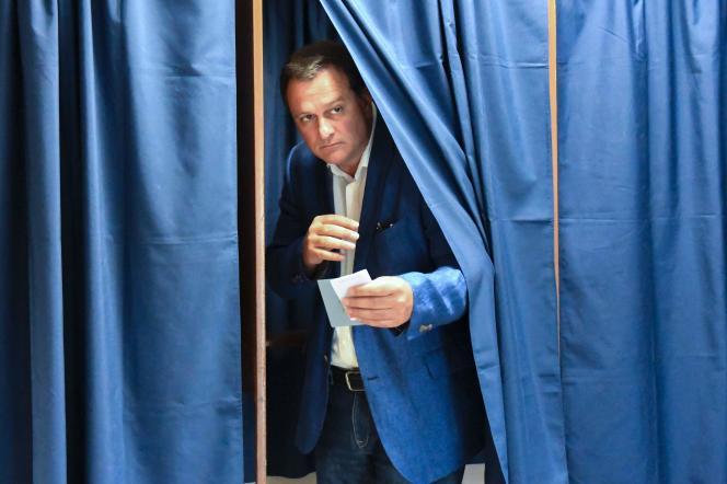 Louis Aliot, vainqueur dans la 2e circonscription des Pyrénées-Orientales, dimanche 18 juin.