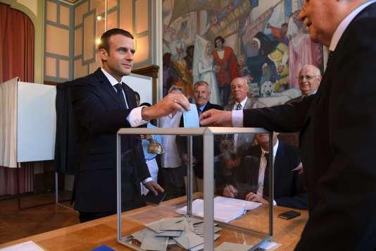 Emmanuel Macron, au Touquet (Pas-de-Calais), le 18 juin.
