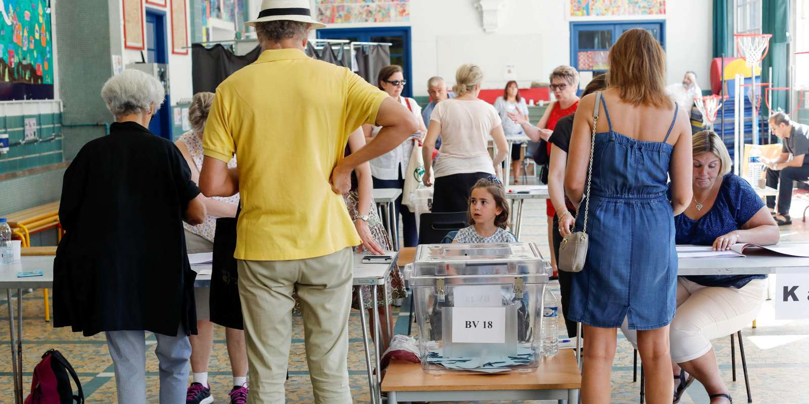 Paris le 18 juin 2017 2nd tour des élections législatives 2017 12e circonscription , bureau de vote