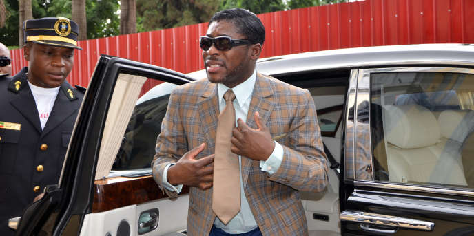 Teodorin Nguema Obiang, fils du président guinéen Teodoro Obiang, le 25 juin 2013, à Malabo, en Guinée Equatoriale.