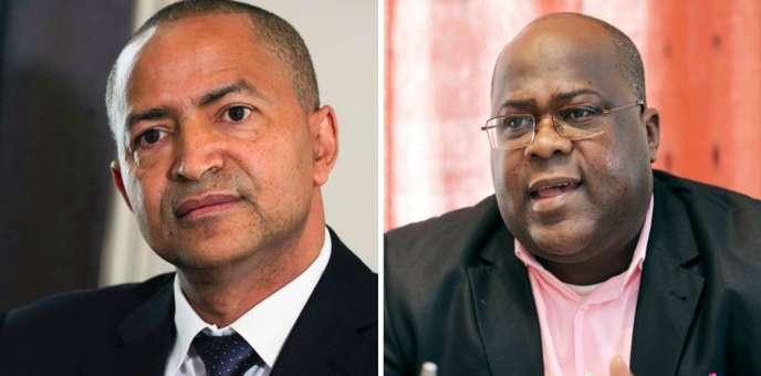 Moïse Katumbi et Félix Tshisekedi.