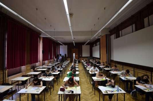 Epreuve du bac 2017 au lycée Fustel-de-Coulanges, à Strasbourg.