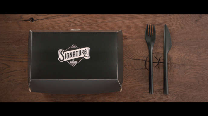 Le packaging de la formule burger« Signature by McDonald's».