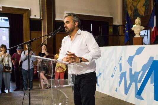 Proclamation de la victoire d'Alexis Corbière à la mairie de Montreuil.
