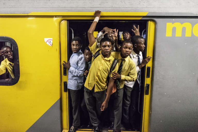 De jeunes étudiants à Johannesburg en mars 2017.