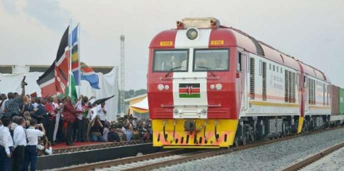 Inauguration de la ligne Nairobi-Mombasa, au Kenya, le 30 mai 2017.