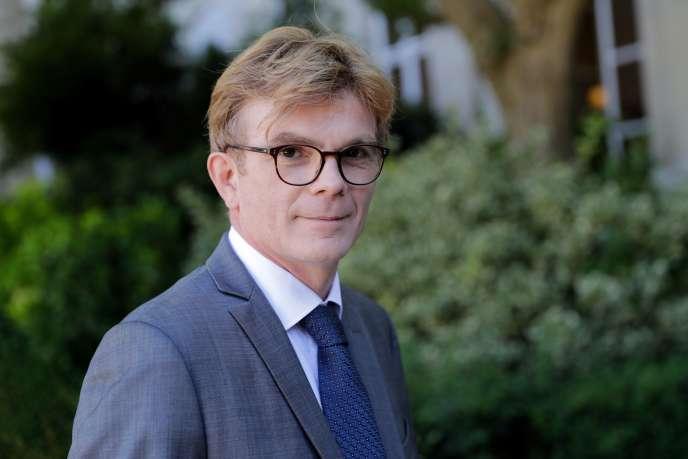 Le député Marc Fesneau lors de son arrivée à l'Assemblée nationale le 19 juin.