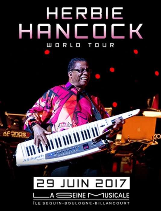 Herbie Hancock, en tournée mondiale, jouera à La Seine musicale le 29 juin.