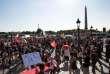 """Manifestants du collectif """"Front social"""", le 19 juin, place de la Concorde."""