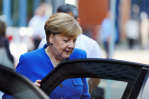 German Chancellor Angela Merkel leaves the German consumer day in Berlin, Germany, June 19, 2017. REUTERS/Hannibal Hanschke