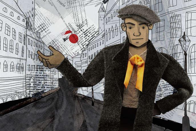 Le personnage de Vladimir Maïakovski dans le film d'animation de Katrin Rothe, «1917-The Real October».