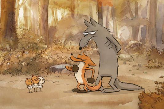 Une image extraite du film d'animation français de Benjamin Renner,«Le Grand Méchant Renard et autres contes».