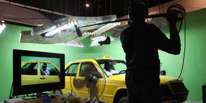 Le studio d'enregistrement de la série« Taxi Tigui».
