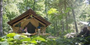 On peut jouer au trappeur au cœur de la forêt de Senonches (Eure-et-Loir).