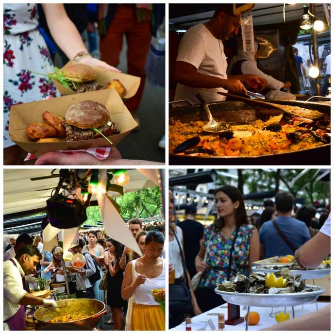 Poulet épicé à la sri lankaise,burgers à l'agneau et écrasés de pommes de terre,paëlla et pastilla au poulet, sans oublier les huîtres… Un voyage pour le palais.