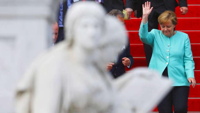 La chancelière allemande Angela Merkel à Berlin lors de la Journée de l'industrie allemande, le 20 juin.