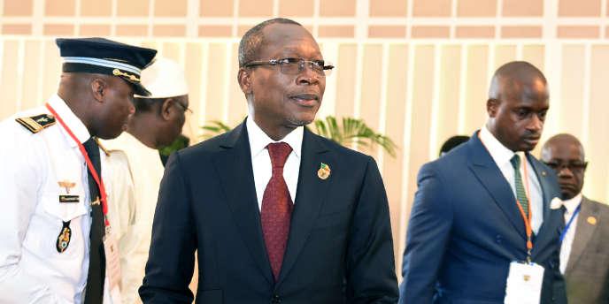Le président béninois, Patrice Talon, à Abidjan, le 10avril 2017.