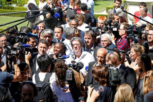 Jean-Luc Mélenchon à l'Assemblée nationale, le 20 juin.