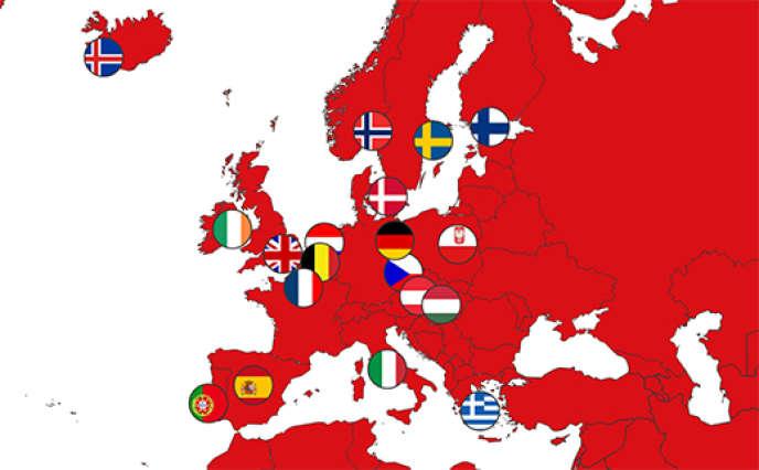 Carte interactive qui compare la consommation énergétique de 19 des plus grandes métropoles européennes