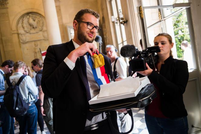 Damien Pichereau, 29ans,est le nouveau député LRM de la 1re circonscription de la Sarthe.