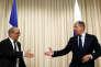 Jean-Yves Le Drian et Sergueï Lavrov à Moscou, le 20 juin.